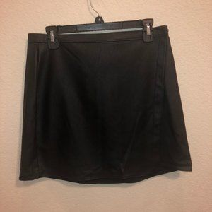 Abercrombie & Fitch Leather Black Skirt NWT